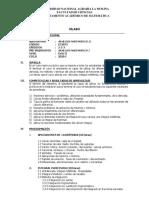 SILABO 2020-I  ANÁLISIS  MATEMÁTICO II