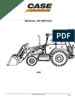 MANUAL DE SERVIÇO DA RETROESCAVADEIRA  580N