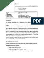 PROGRAMA DE MECANICA DE ROCAS I