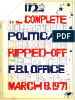 """The Complete Collection of Political Documents Ripped-off from the FBI Office in Media, Pa., March 8, 1971,"" WIN, March 1972"