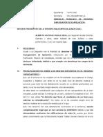 ABSUELVE TRASLADO DE APELACION-