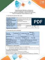 Guía de actividades y rúbrica de evaluación - Fase 5 - Evaluación Final Estudio de caso