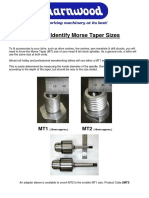 How to Identify Morse Taper Sizes
