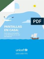 Guía Pantallas en casa UNICEF