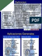 DEFINICION DE VALVULAS DE SEGURIDAD Y ALIVIO