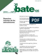 Wagner. 2018. Vaivenes comunidades y emprendimientos extractivistas. Mza San Juan. Ecuador Debate