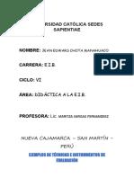 TRABAJO DE DIDÁCTICA A LA EIB INSTRUMENTOS DE EVALUACION- EDUAR