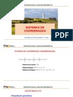 Sistemas de coordenadas. Recta y circunferencia