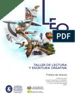 LEO - TALLER DE LECTURA Y ESCRITURA CREATIVA.