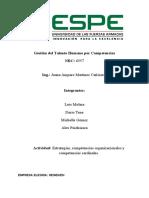 Estrategias y capacidades organizacionales y competencias cardinales _ Grupo #4