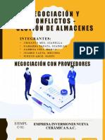 NEGOCIACIÓN Y CONFLICTOS - GESTIÓN DE ALAMACENES