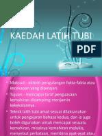 KAEDAH LATIH TUBI