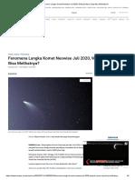 Fenomena Langka Komet Neowise