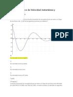 Autodiagnóstico de Velocidad instantánea y derivadas