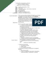 Syllabus - English Comp I (EFL)
