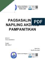 TORRES, HAZEL AKIKO D. BSE- FILIPINO 1
