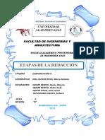 ETAPS DE LA REDACCIÓN