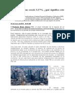 El PBI peruano creció 5.27