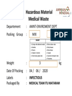 sample lable hazard medical