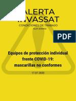 Equipos de protección individual frente a covid-19