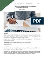 Impactul metodei de evaluare a stocurilor asupra rezultatului financiar