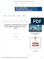 Automatic Identification System (AIS)-Ship Navigation System-ETO - Electro Technical Officer