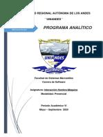 1Programa analitico Interacción Hombre Máquina