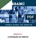 01 - Módulo I - A definição de Direito.pptx