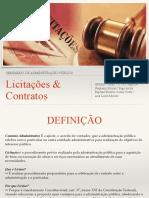 LICITAÇÕES E CONTRATOS _ Seminário de Adm. Pública
