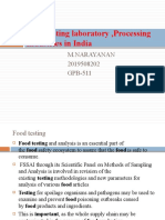 Food testing laboratory ,Processing Industries in India