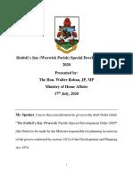20201507 Ministerial Brief - Riddell's Bay SDO