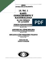 Varios - Historia De La Filosofia 15 - Kant Conocimiento Y Racionalidad - Vol I.pdf