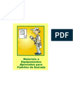 PEC_11 - MATERIAIS APROVADOS PARA ENTRADA ENERGIA