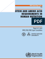 FAO-2007 requerimientos de proteínas y aminoácidos