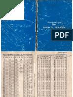 Nautical Almanac 1992