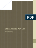Brain Teasers and Solutions - Part One.pdf