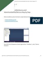 Install AdventureWorks2014 and AdventureWorksDW2014 Step by Step – Business Intelligence A – Z