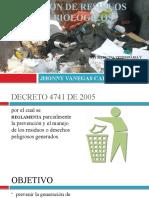 DISPOSICION DE RESIDUOS SOLIDOS Y BIOLOGICOS JVC