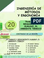 Sesión 20  TRABAJO Y RENDIMIENTO HUMANO - EL AMBIENTE TÉRMICO