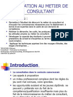 Initiation au métier de consultant