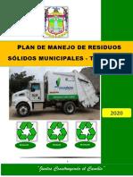 PLAN DE MANEJO DE RESIDUOS SOLIDOS TACABAMBA - 2020