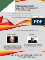 CONCEPTO DE LENGUAJE E INFLUENCIA DEL PENSAMIENTO EN EL LENGUAJE
