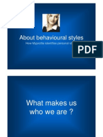 Introduction to Behavioural Styles