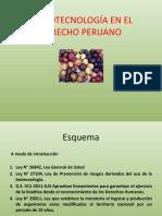 LA BIOTECNOLOGÍA EN EL DERECHO PERUANO