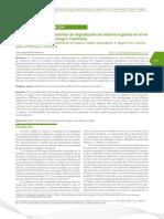 Determinación de coeficientes de degradación de materia orgánica en el rio Negro