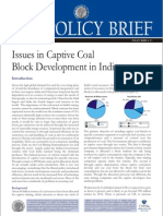 Issues in Captive-Coal_development in India-July 2009