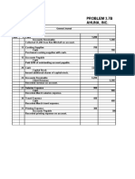 Ahuna Inc- Problem 37-B Chapter 3, pg 137