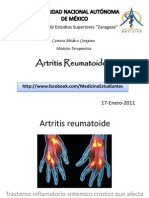 Artritis Reumatoide Dx y Tx