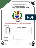 Evaluacion del desempeño en la PNP