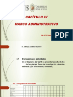 Capítulo IV Marco Administrativo
